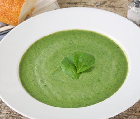 Glutenvrije spinaziesoep