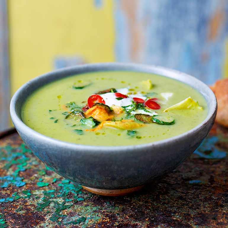 Courgette-aspergesoep van Jamie Oliver