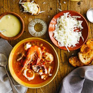 Spaanse vissoep van Jamie Oliver