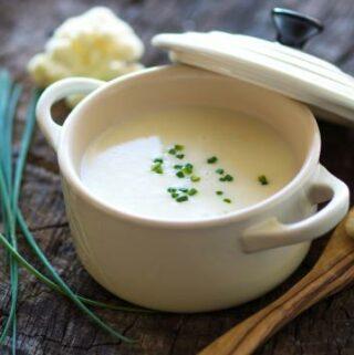 Bloemkoolsoep uit de soepmaker